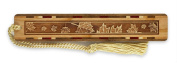 Maple Leaves Engraved Wooden Bookmark with Tassel