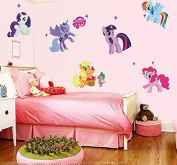 My Little Pony 3d Cartoon Wall Stickers for Kids Rooms Home Decoration Diy Wall Decal for Girls Room Wall Decorations
