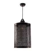 Kenroy Home 93440 Sorcerer 1 Light Pendant, Black Zinc