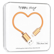 Happy Plugs Data Cable for iPhone 5/5s/5c/6/6 Plus and Other Smartphones- Retail Packaging - Rose Gold