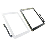Tensdar Replacement Accesories White Touch Screen Display Digitizer Complete Assembly + Home Button Menu for Apple Ipad 3 3rd Generation A1416 A1403 A1430