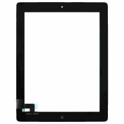 Tensdar Replacement Accesories Black Touch Screen Display Digitizer Complete Assembly + Home Button Menu for Apple Ipad 2 2nd Gen