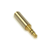 3.5mm Male to Female Port Extender Shielded, Stereo TRS, Gold Plated