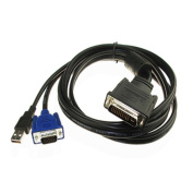 Caxico M1 to VGA Projector Cable with USB