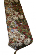 Decorative Christmas Teddy Bears Design Tapestry, 33cm X 180cm Table Runner
