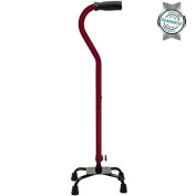 Adjustable Quad Cane by VIVE - Best Lightweight Walking Stick for Men and Women - Lifetime Guarantee