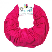 Nursing Cover for Breastfeeding and Pumping- Universal Fit for All Sizes - Infinity Scarf turns into Privacy Cover Up - -Solid Colour for Less Attention - Pink - Family First
