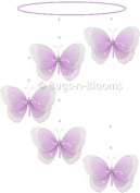 Butterfly Mobile Purple (Lavender) Multi-Layered Spiral Nylon Butterflies Mobiles Decorations. Decorate a Baby Nursery Bedroom, Girls Room Hanging Ceiling Decor, Wedding Birthday Party, Bridal Baby Shower, Bathroom. Kids Childrens Nursery Mobile Decora ..