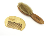 Rhoost Brush and Comb Set for Baby - Natural Bamboo Wooden - Cradle Cap - Baby Health and Personal Care Kits