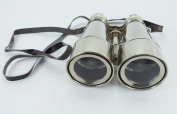 Steel Binocular with Leather Belt for Neck Collectibles