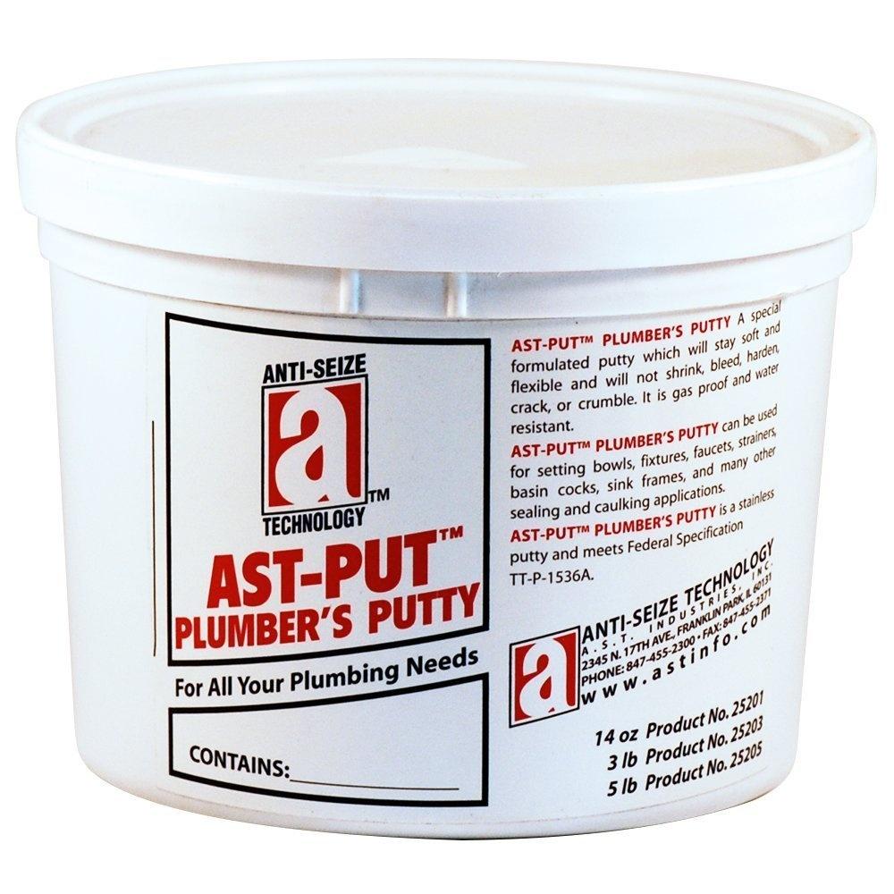 AST-PUT 25201 Plumber's Putty, Professional Grade, Tan, 410ml Tub