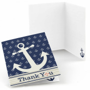 Ahoy - Nautical - Party Thank You Cards - Set of 24