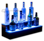 2 Tier Lighted Bar Shelves - Programmable LED Remote Control