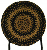 CWI Gifts Ebony Braided Chair Pad, 38cm