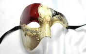 Phantom of the Opera Men's Venetian Mask Masquerade Party, Red