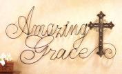 Amazing Grace Metal Cross Wall Art
