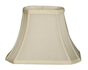Royal Designs 28cm Rectangle Cut Corner Basic Lamp Shade, Eggshell, (4 x 6) x (8 x 11) x 8