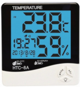 Acmee® LCD Night Light Indoor Humidity Monitor Temperature Sensor Hygrometer Thermometer with Date Time Alarm Clock