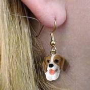 Beagle Earrings Hanging