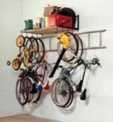 1.2m Garage Storage Shelf and Bike Rack with Ladder Hooks