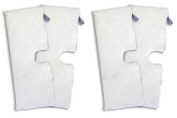 SHP-ZONE Replacement RECTANGLE Shark XL Microfiber Cleaning Pads for the Steam Pocket Mop, XLT3501 (EXTRA LARGE)