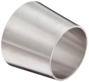 DixonB31W-R250200P Stainless Steel 316L Polished Fitting, Weld Concentric Reducer, 5.1cm - 1.3cm Tube OD x 5.1cm Tube OD