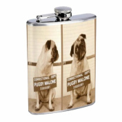 Pug Dog Bulldog Mug Shot Fun 240ml Stainless Steel Flask D-550