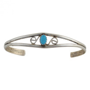 Judy Lincoln Sterling Silver Turquoise Navajo Bracelet