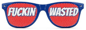 F**kin Wasted Sunglasses - Funny Wayfarer Shades - Red White and Blue