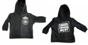 Friendly BABY-N-Roll RAMONE ZIPPED HOODIE sabber sabber hey Baby Black Hooded Zip Black