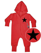 BLACK STAR Baby All-In-ONE Sweatsuit red