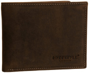 Hydestyle Mens Venator Distressed Leather Trifold GW6718 Wallet
