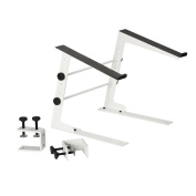 Adam Hall Stands SLT 001 W Laptop Music Stand with Clamp, White