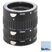 Auto-Focus Macro Extension Tube Set for Sony Alpha A7R, A77II, A7S, SLT-A58, SLT-A77, SLT-A65, SLT-A58, SLT-A77, SLT-A65, SLT-A99 DSLR Camera