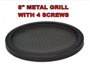 20cm INCH CAR SPEAKER WOOFER STEEL MESH GRILL WITH SPEED CLIPS AND SCREWS