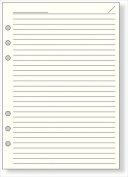 Raymay Davinci A5 size 6-hole personal organiser refill, economical notepad, 6.5mm ruled paper, cream,100 sheets DAR459