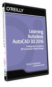 Learning Autodesk AutoCAD 3D 2016 - Training DVD