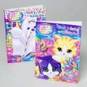 LISA FRANK GIANT colouring BOOK 2 TITLES 96 PAGES #B148925-96P, Case Pack of 24