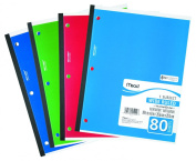 Mead 1-Subject Wireless Notebook, 27cm x 20cm , Wide Ruled, 80 Sheets