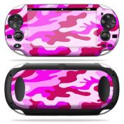 Protective Vinyl Skin Decal Cover for PS Vita PSVITA Playstation Vita Portable Sticker Skins Pink Camo