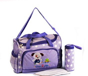 XXL 3 Pc. Baby Nappy Bag Nappy Bag / Travel Bag - Purple - Multiple Colours Available