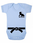 Baby Jiu Jitsu Black Belt Martial Arts GI Baby Grow / Baby Bodysuit / Playsuit