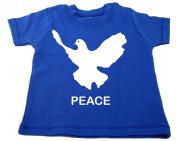 FRIENDLY-N-Roll PEACE Baby T-Shirt Organic Cotton Baby T-Shirt Cobalt Blue