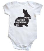 HippoWarehouse Only my rabbit understands me baby vest boys girls