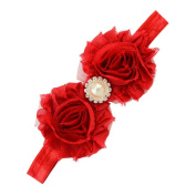 Sanwood Baby Girl Rhinestone Flower Headband Headdress