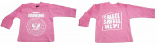 FRIENDLY-N-Roll RAMONE sabber sabber hey Baby pink Baby pink Long-Sleeved T-Shirt