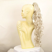Hairpiece ponytail woman long wavy white 65 cm ref 10 60