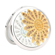 Lovely Make-up Mirror Beauty . Two-Sided Cosmetic Mirror Sunflower