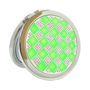 Lovely Make-up Mirror Beauty Two-Sided Cosmetic Mirror Colourful World Green