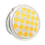 Lovely Make-up Mirror Beauty Two-Sided Cosmetic Mirror Colourful World Yellow